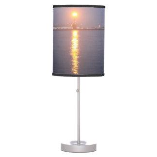 Luminária De Mesa Lâmpada do nascer do sol do rio Mississípi