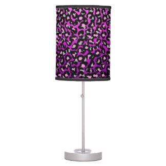 Luminária De Mesa Lâmpada roxa do leopardo