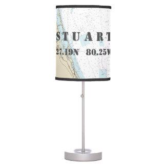 Luminária De Mesa Latitude & longitude Stuart, Florida, mesa da