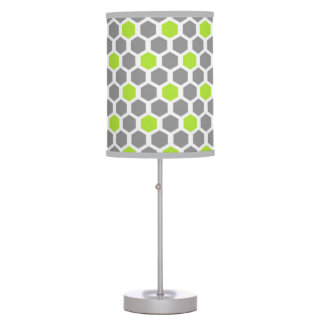Luminária De Mesa Limão moderno e candeeiro de mesa cinzento do