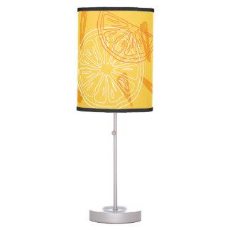 Luminária De Mesa Limões amarelos brilhantes teste padrão tirado do