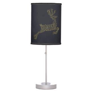 Luminária De Mesa Linha decorativa cervo do Natal do ouro