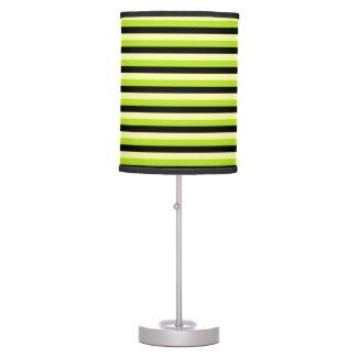 Luminária De Mesa Listras amarelos pálido, do verde limão e do preto