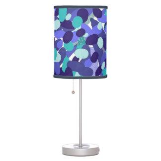 Luminária De Mesa Luz abstrata da mesa dos pontos do azul