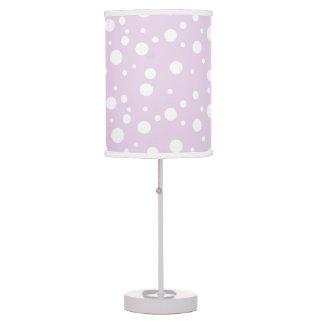 Luminária De Mesa Luz roxa da mesa das bolinhas