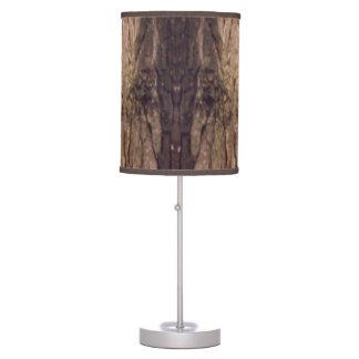 Luminária De Mesa Madeira escura
