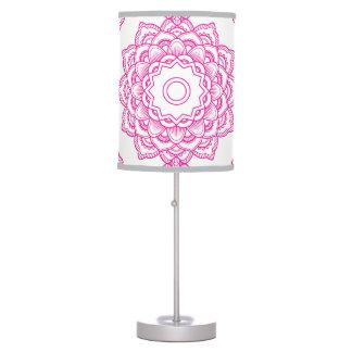 Luminária De Mesa Mandala cor-de-rosa
