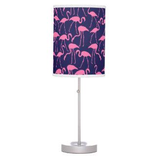 Luminária De Mesa Marinho e teste padrão cor-de-rosa do flamingo