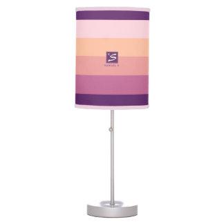 Luminária De Mesa Monograma da listra da paleta de cores do por do