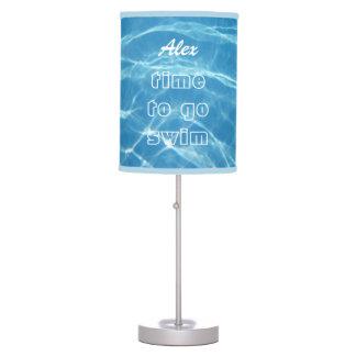 Luminária De Mesa Natação aquática azul legal clara fresca da água d