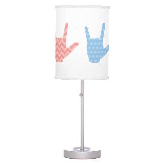 Luminária De Mesa O linguagem gestual do ASL caçoa eu te amo o