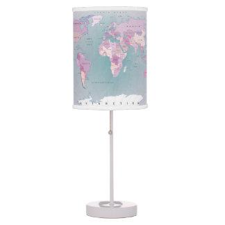 Luminária De Mesa O mapa do mundo todos os países pica a máscara de