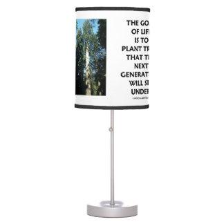 Luminária De Mesa O objetivo da vida é plantar árvores que a próxima