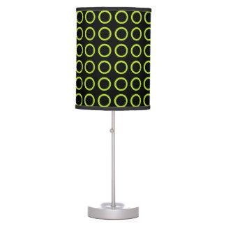 Luminária De Mesa O verde limão circunda o preto