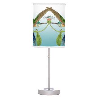 Luminária De Mesa Os animais selvagens dos pássaros do colibri de