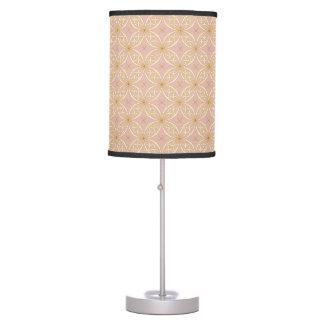 Luminária De Mesa Ouro bonito & teste padrão cor-de-rosa