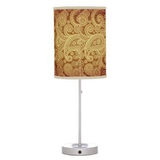 Luminária De Mesa Ouro Paisley