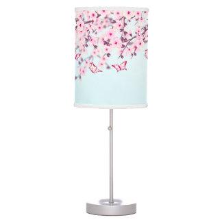 Luminária De Mesa Paisagem das flores de cerejeira