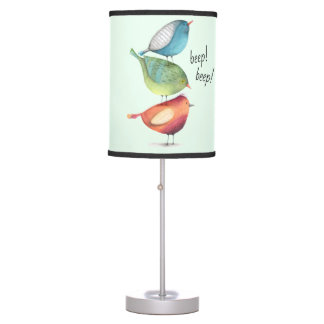 Luminária De Mesa Pássaros gordos bonitos que estão em se
