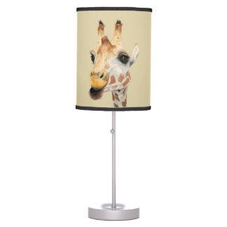 """Luminária De Mesa Pintura da aguarela do girafa da """"mastigação"""""""