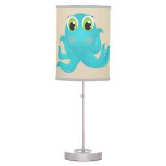 Luminária De Mesa Polvo feliz bonito da lâmpada do miúdo