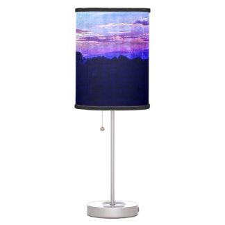 Luminária De Mesa Por do sol roxo azul do verão no país