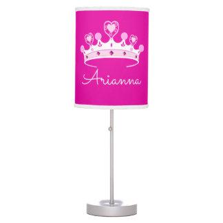 Luminária De Mesa Princesa Coroa Costume Personalized do rosa quente