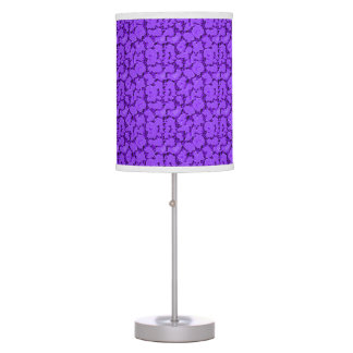 Luminária De Mesa _Purple-Rose-Crackle-Lighting-Shades do Hydrangea