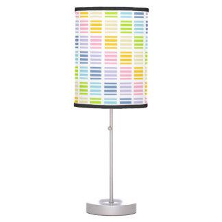 Luminária De Mesa Quadrados e listras Pastel do arco-íris