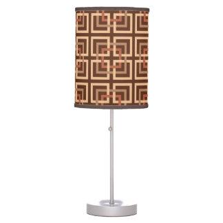 Luminária De Mesa Quadrados geométricos, castanho chocolate modernos