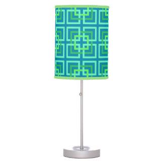 Luminária De Mesa Quadrados geométricos modernos, Aqua, cerceta,