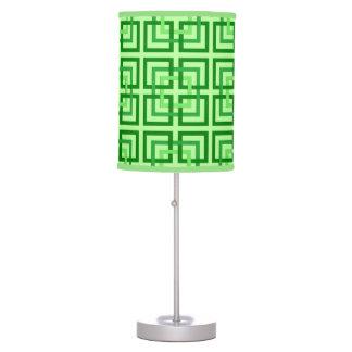 Luminária De Mesa Quadrados, verde da hortelã e esmeralda