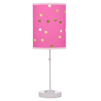 Luminária De Mesa Rosa quente dos confetes na moda da folha de ouro