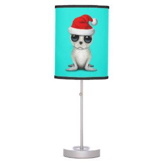 Luminária De Mesa Selo ártico do bebê que veste um chapéu do papai