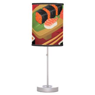 Luminária De Mesa Sushi preto & vermelho elegante moderno chique
