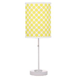 Luminária De Mesa Teste padrão amarelo do limão da fruta