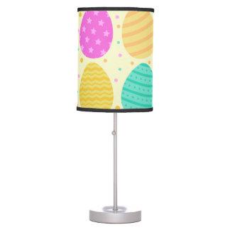 Luminária De Mesa Teste padrão colorido bonito dos ovos da páscoa