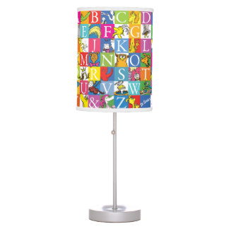 Luminária De Mesa Teste padrão colorido da letra de bloco de ABC do