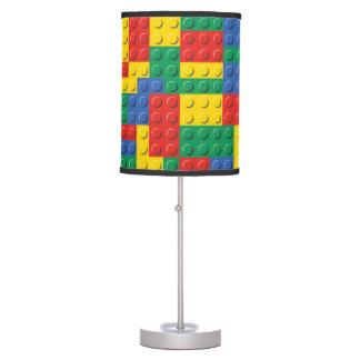 Luminária De Mesa Teste padrão colorido do fundo dos blocos de