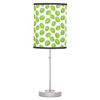 Luminária De Mesa Teste padrão com azeitonas verdes