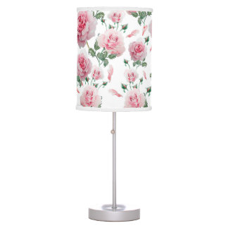 Luminária De Mesa Teste padrão cor-de-rosa dos rosas do Scatter