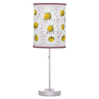 Luminária De Mesa Teste padrão floral das margaridas brancas e