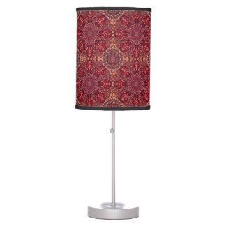 Luminária De Mesa Teste padrão floral étnico abstrato colorido de da
