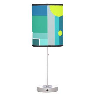 Luminária De Mesa Teste padrão geométrico do limão do verde azul