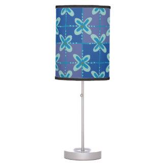 Luminária De Mesa Teste padrão sem emenda do batik floral azul da