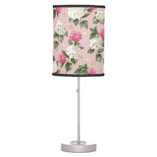 Luminária De Mesa Teste padrão sem emenda floral do Hydrangea