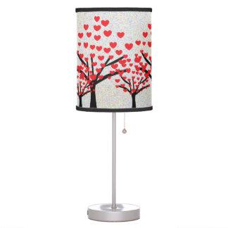 Luminária De Mesa Teste padrão vermelho bonito das árvores dos