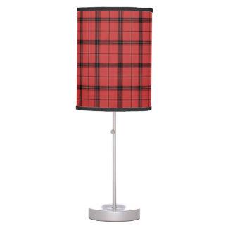 Luminária De Mesa Teste padrão vermelho do feriado do Natal do