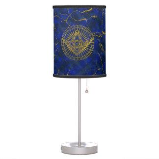 Luminária De Mesa Todo o olho místico de vista no compasso maçónico