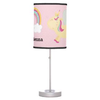 Luminária De Mesa Unicórnio bonito * escolha sua cor do fundo
